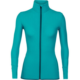 Icebreaker Descender LS Zip Jacket Women Arctic Teal/Kingfisher